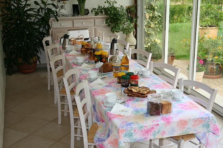 Phots de la table du petit déjeuner